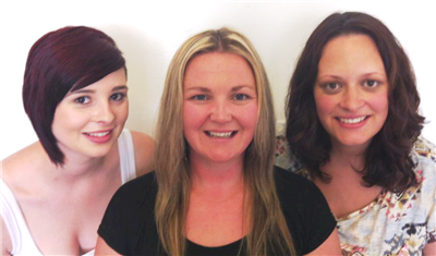 Take one last look — Kat Hicks, Amy Lawlor and Cristy Crouch will be losing their hair on July 6 for their Cancer Council SA fundraiser.