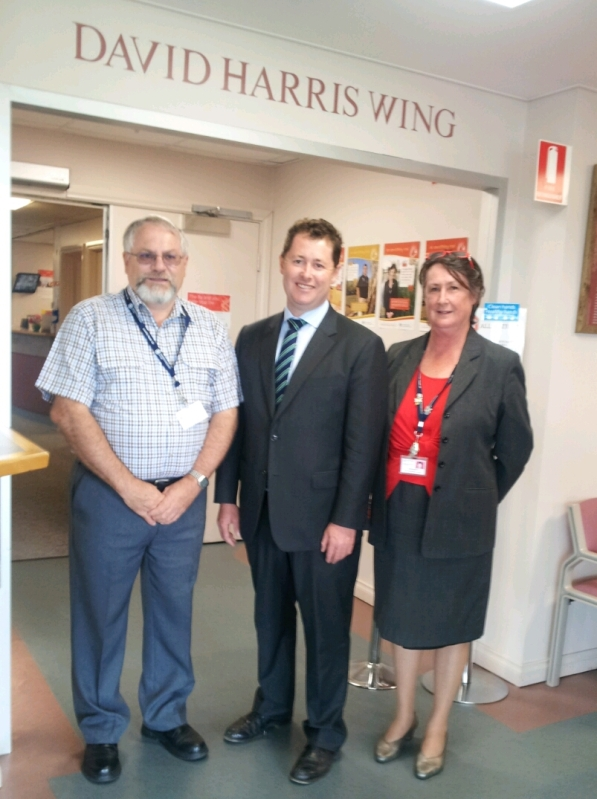 (Left to right): Brenton Dohnt (Presiding Member, Millicent and District Health Advisory Council Inc.), Mr Jack Snelling (Minister of Health) and Local MP Ros Brown (Executive Officer, Director of Nursing and Midwifery)