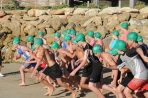 Over 60 junior athletes took part in the 2013 Beachport triathlon.