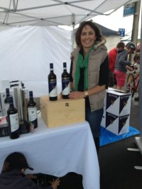 Heidi Kain was a first time stall holder at Beachport Market and was very excited to be selling her wines from Koonara Wines - Coonawarra.
