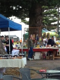 Overall view of the Beachport Markets.