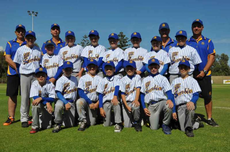 The representatives of the SA Country Baseball team competiting in the National Baseball Championship in Queensland.
