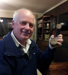 Brian with a link from the Anchor chain of the Geltwood