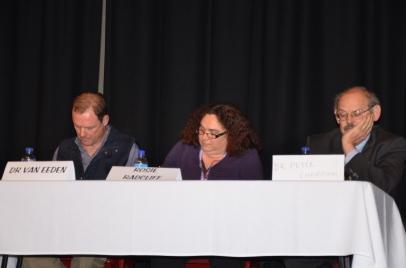 L-R: Dr vanEeden, Rosey Radcliff, Peter Chapman