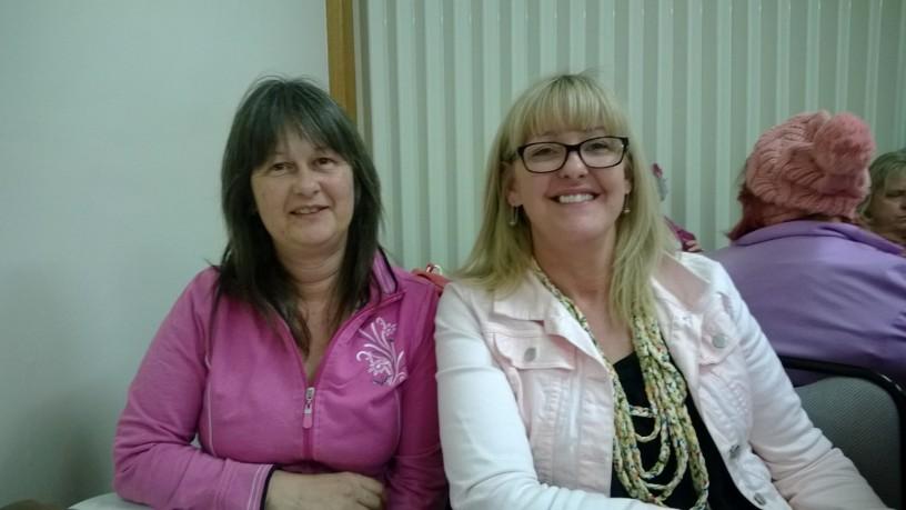 Linda McRoberts and Lisa McCourt - Heaven on A Hanger sponsored the event.