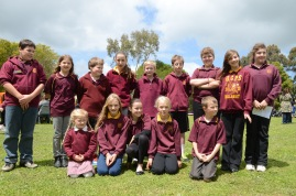A group of Glencoe school students