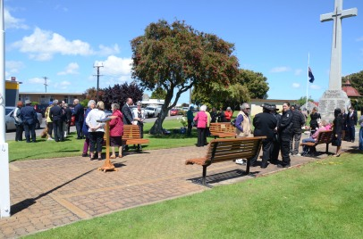 People gather for Remembrance Day