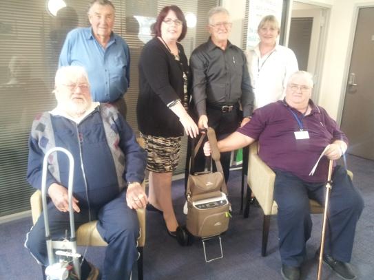 Lance Evans, John Clarke, Anne Bierwirth, Colin pye, Julie and Tom Briggs