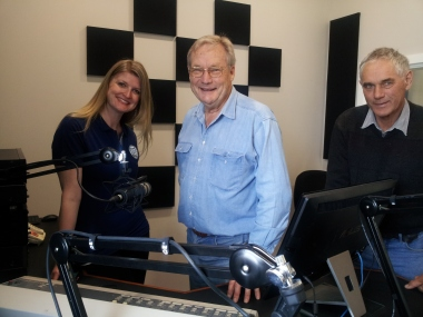5 THE FM's Rebekah Lowe, Technician John Drew and Board Member Ralph Domaschenz all smiles as the switch is made to the new Studio 1.