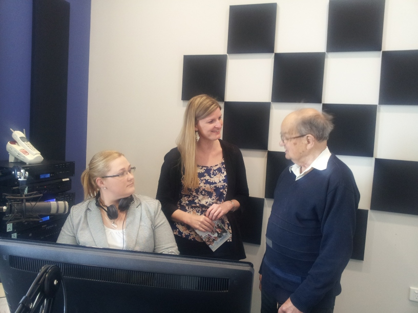 5 THE FM presenter Courtney with Rebekah Lowe and Mr Bob Foster