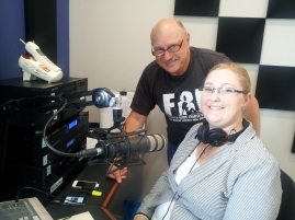 Chappy about to go on air, runs throught the new set-up with Courtney