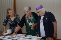 Heather Ellis, Ros Haines & Lyn Brooks getting dessert ready