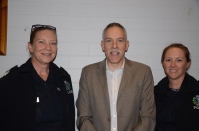 (L to R) Senior Sergeant Tracy Gentgall, Commissioner for Victim's Rights Michael O'connell and Senior constable Kylee Simpson