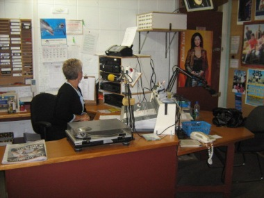 Lisa Braes, former Chair and presenter in old studio 1