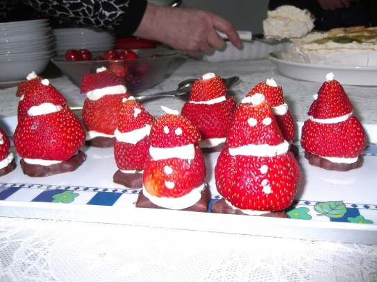 Strawberry Santas...quaint