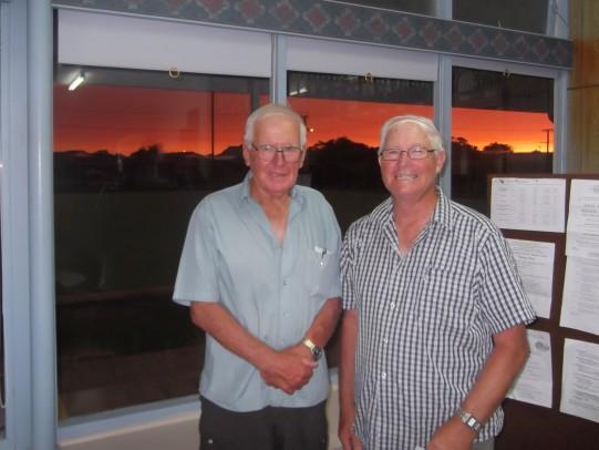 Winners David Botting (left) & Lindsay Warneke