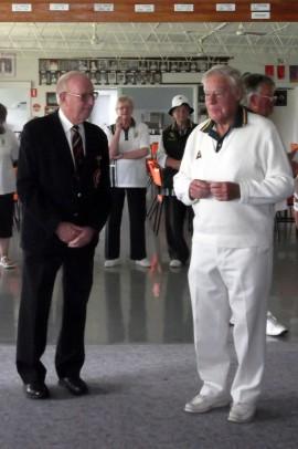 Max Blacketer (left) & Super Veteran Bill Schuller