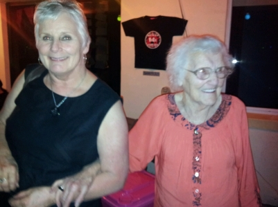Catharina Cormana and mother Nel Groot, Nel hosted the famour Music Festivcal at her home in Williams Rd for many years.