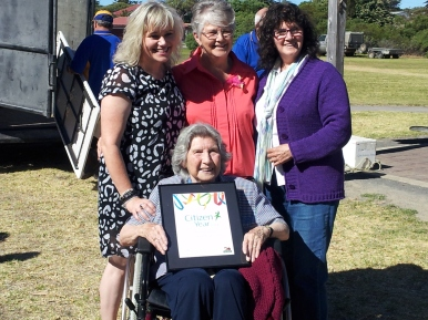 Elaine and Family, she was especially pleased to have her mother attending (seated)