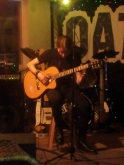 Jack on accoustic guitar with Spanish