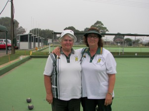 Fay Richards & Adriana Ross before the final
