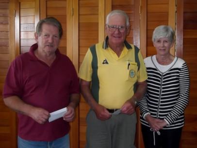 Bevon Turner Day winners Bill Davis & David Botting with Beth Turner