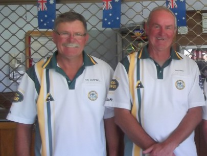 Championship Pairs Winners Iain Campbell & Rod Gibbs