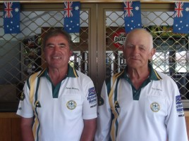 Championship Pairs Runners-up Derek Bowering & Terry Barnes
