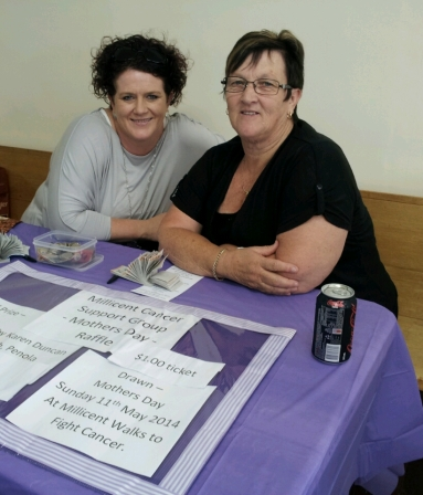 Karla and Josie Werchom from theMillicent Cancer Care Suport Group raised funds with a raffle