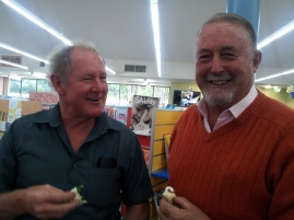 Allan Crowe and Frank Boylan enjoyed the guest speaker and the afternoon tea.