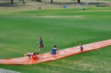 Children enjoyed the Slip and Slide