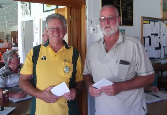KCA 2-4-2 Winners Colin Pye (left) & Neil Whelan