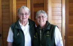 Ladies Veterans Winner Margaret Johnson (left) & Runner up Heather Carthew