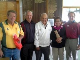 Runners-up Bill Davis (left), Clive Stevens, Max