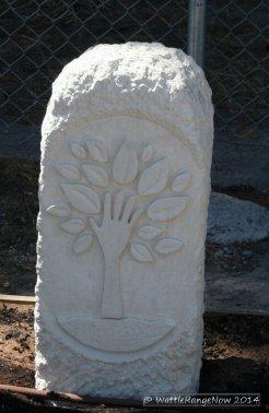 Sculpture by Sam Wass for the Community Garden