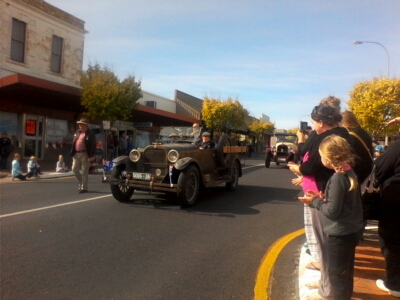 Historic vehicles took pride of place in the March