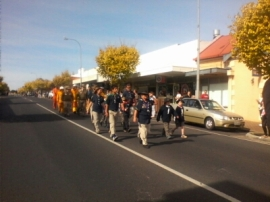 Boy Scouts in March in George Street