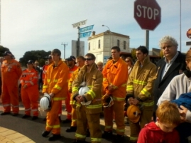 CFS take part in the Service