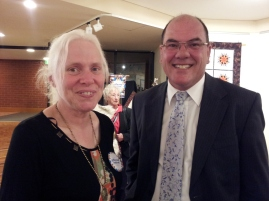 Judy Crawford with Mayor Peter Gandolfi