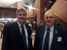 President Eddy Hann and former President Ken Haines