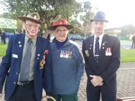 RSL President Steven Tidy, Graeme Morris and Chris Mathias