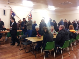 RSL hall filled to capacity for breakfast