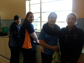 Girls guides on duty