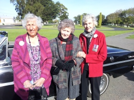 Legact Ladies Ada Gurney, Betty Watson and Pauline Hales
