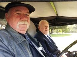 Gil Purdie driving Mick Sherrin