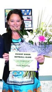 paula bowering life membership 20.10.13