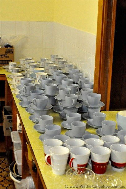Cups at the ready