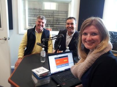Member for MacKillip, Liberal Leader Steven Marshall and 5 THE FM'S Rebekah Lowe