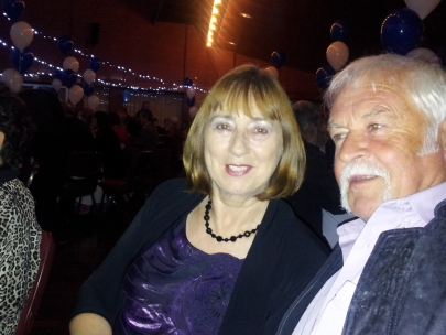 Helen and Brian Pennell really loved the music on the night