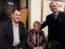 Mark Braes (former Mayor) Cr Gwenda Lawlor and John Trafford